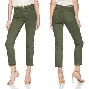 AG Isabelle High Rise Straight Crop